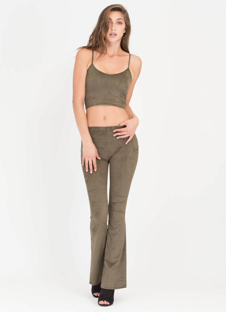 Total Package Top 'N Flared Pants Set OLIVE (Final Sale)