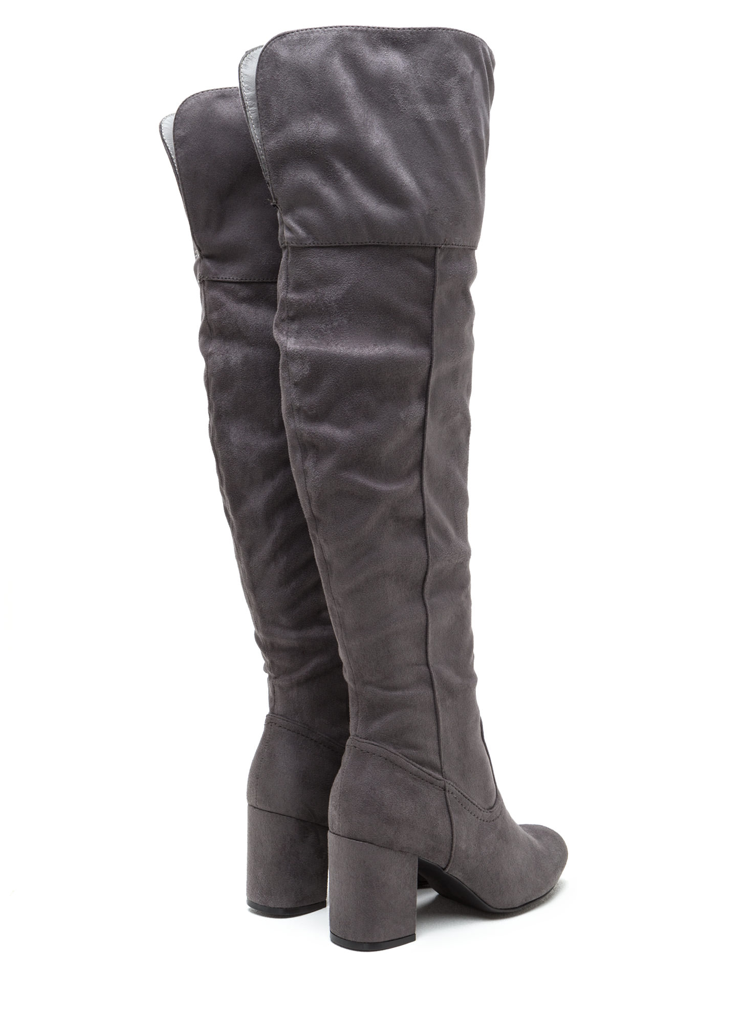 Edge Of Glory Over-The-Knee Boots DKGREY