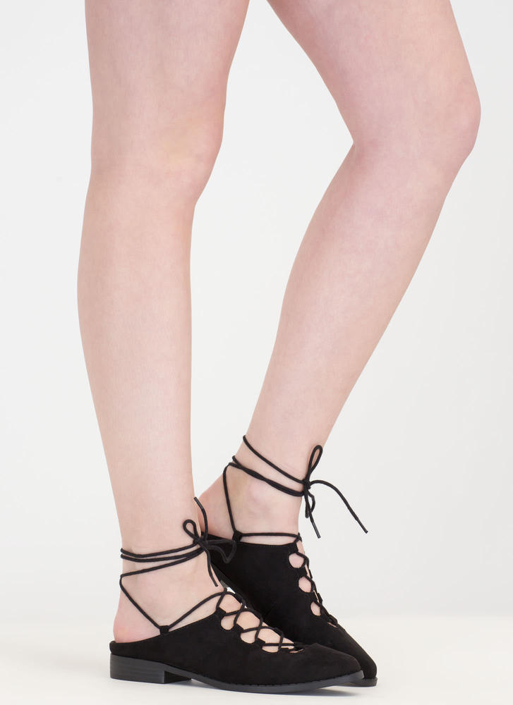 Chic Your Mind Lace-Up Slip-On Flats