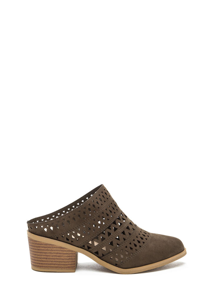 Lattice Rejoice Slip-On Bootie Heels