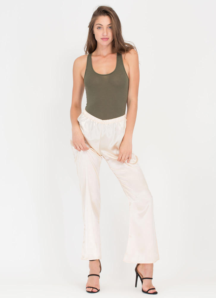 Smooth Over Satin Palazzo Pants