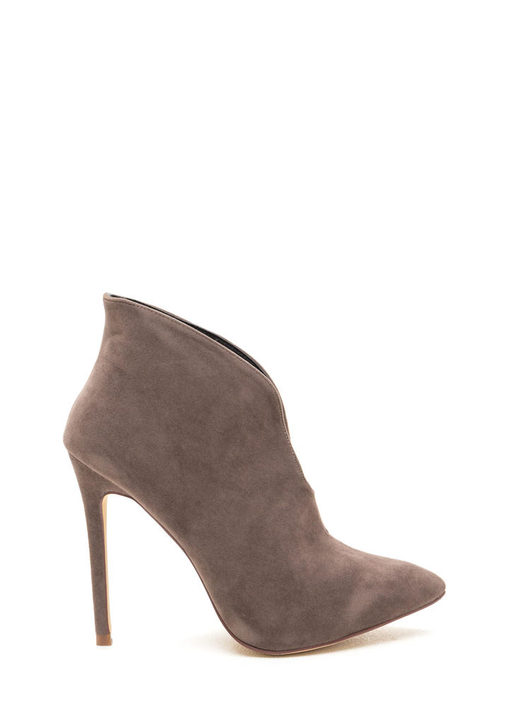 Sleek Up On You Pointy Velvet Booties
