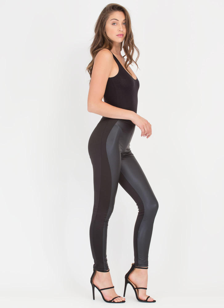 Moto Babe Coated Leggings