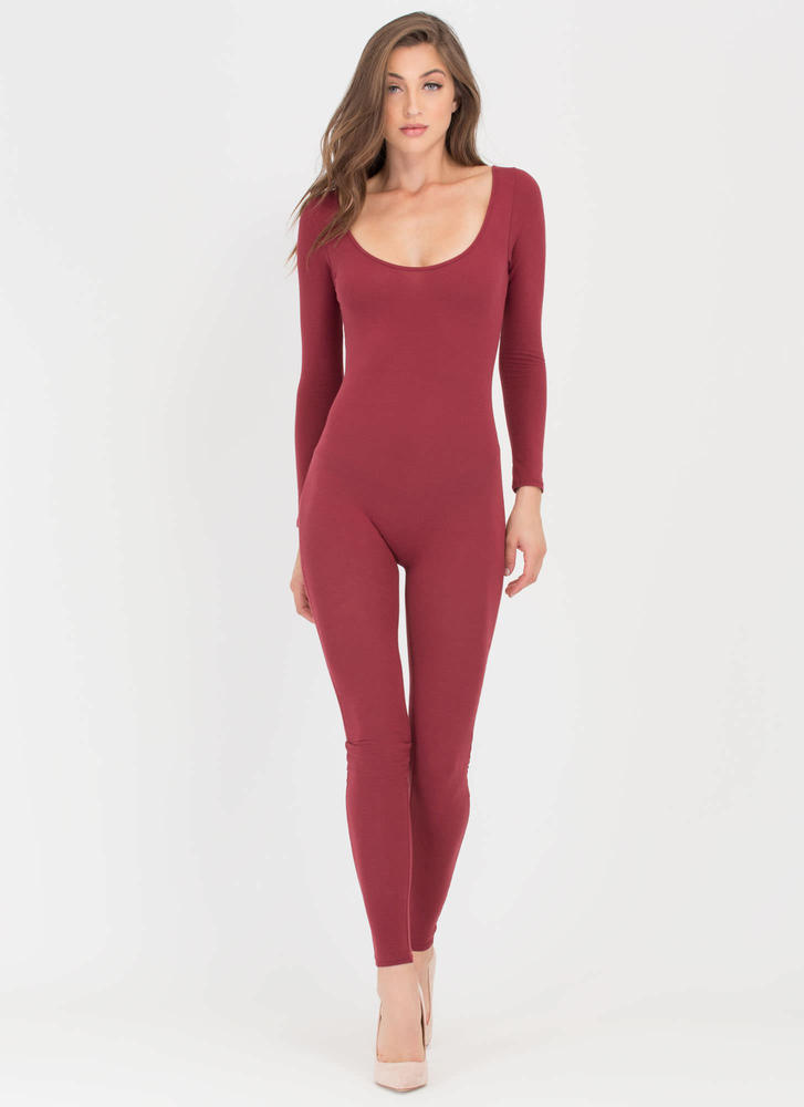 Single Scoop Long Sleeve Full Bodysuit