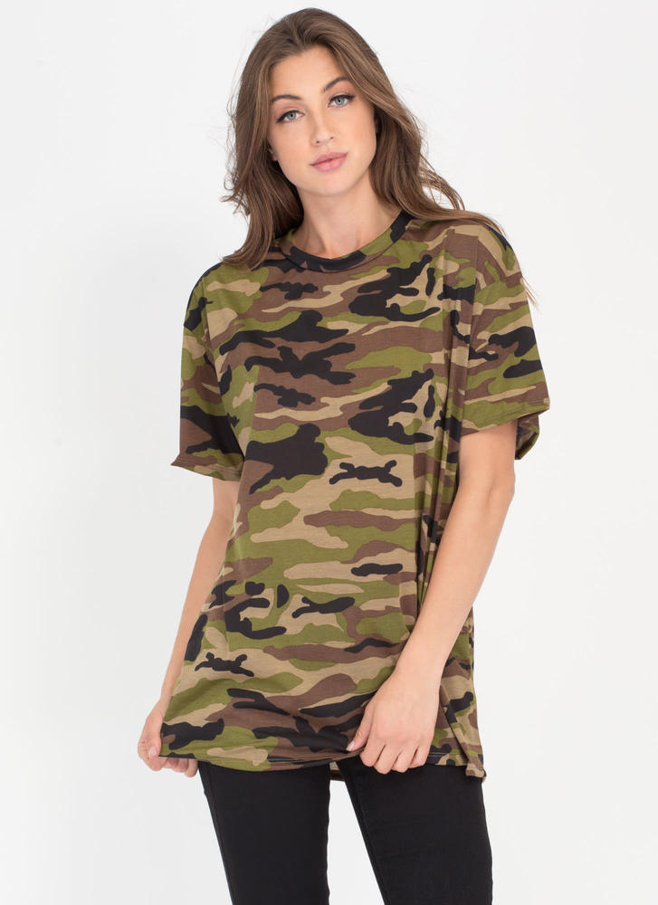 Boot Camp Camo Print Oversized Tee