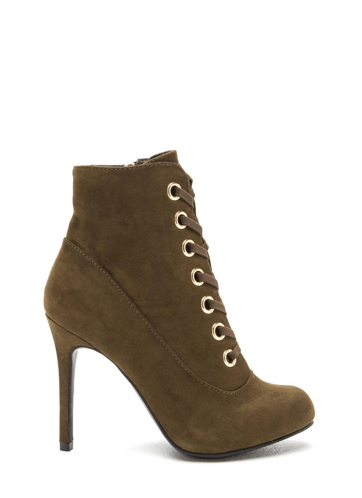 Under My Spell Lace-Up Stiletto Booties