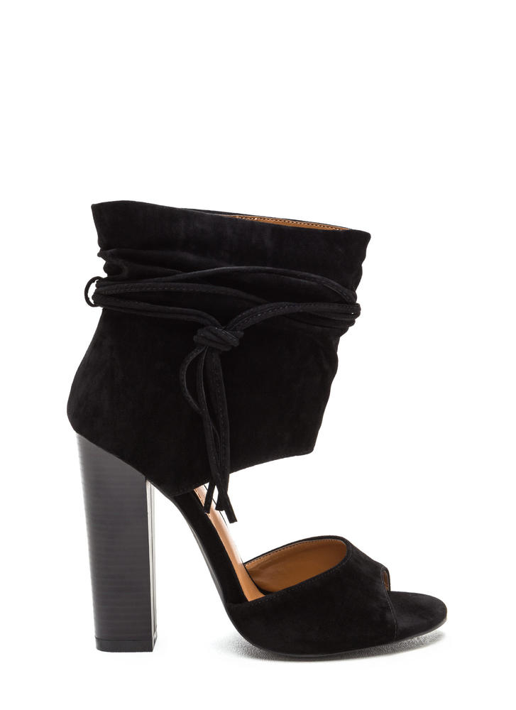 Perfect Combo Slouchy Chunky Heels BLACK