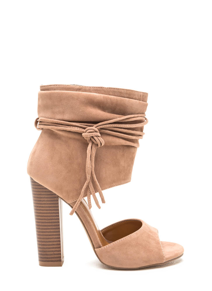 Perfect Combo Slouchy Chunky Heels TAUPE