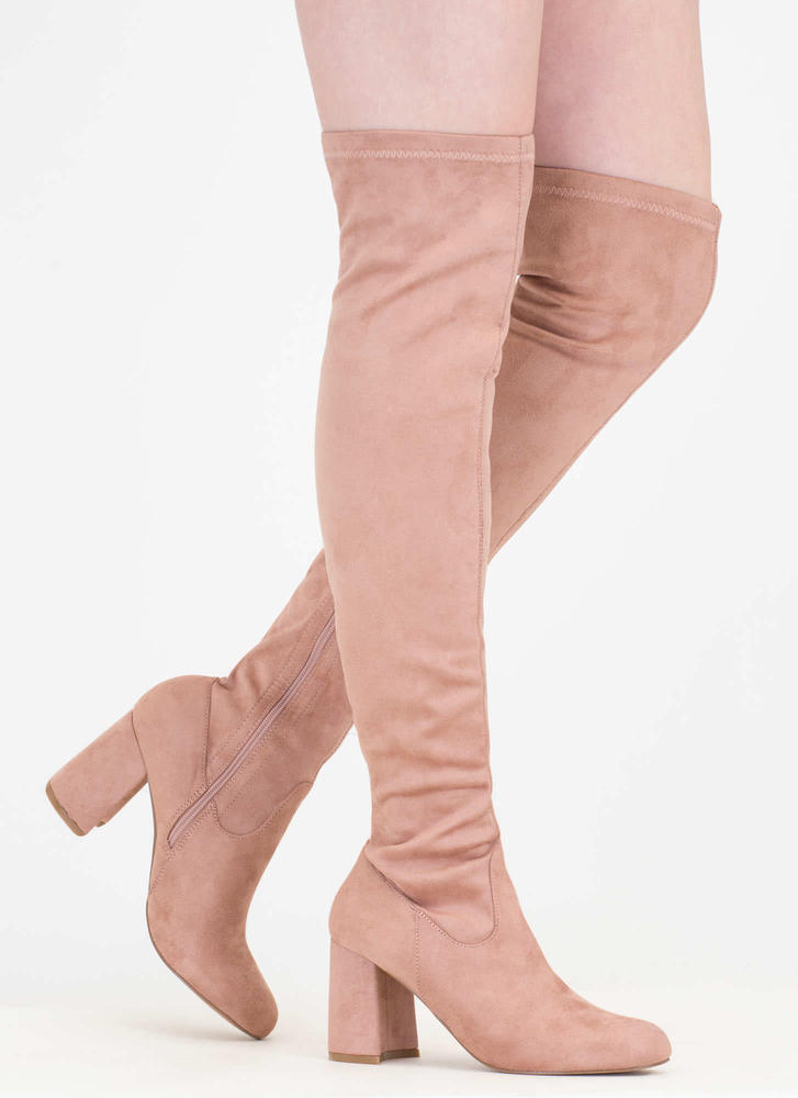 So Blocked Chunky Over-The-Knee Boots