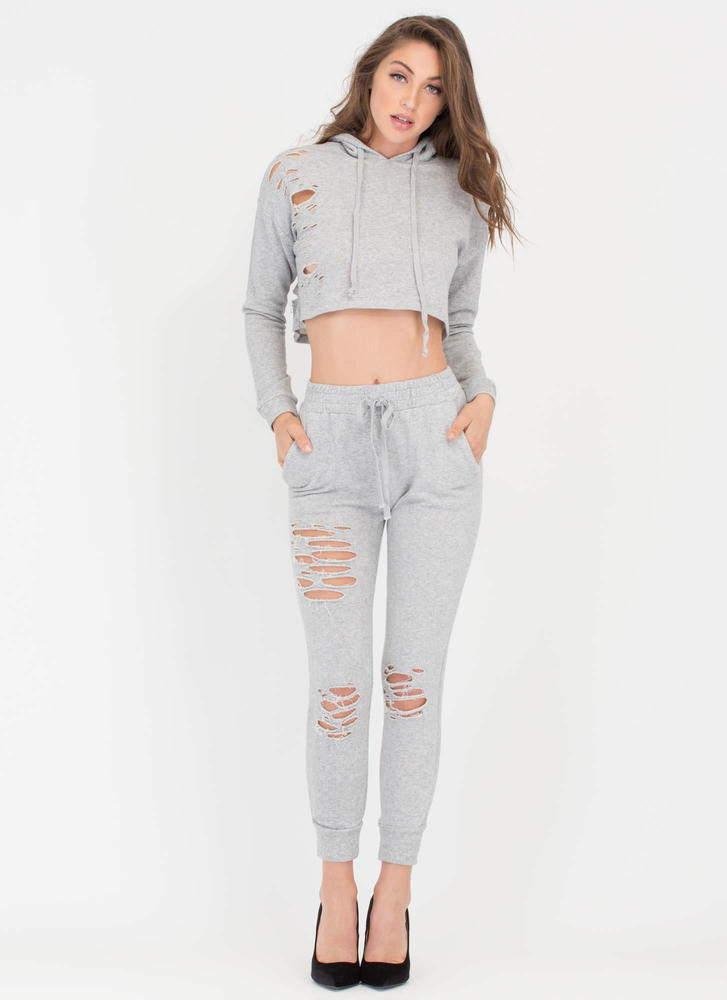 Shred-y Or Not Jogger Pants HGREY