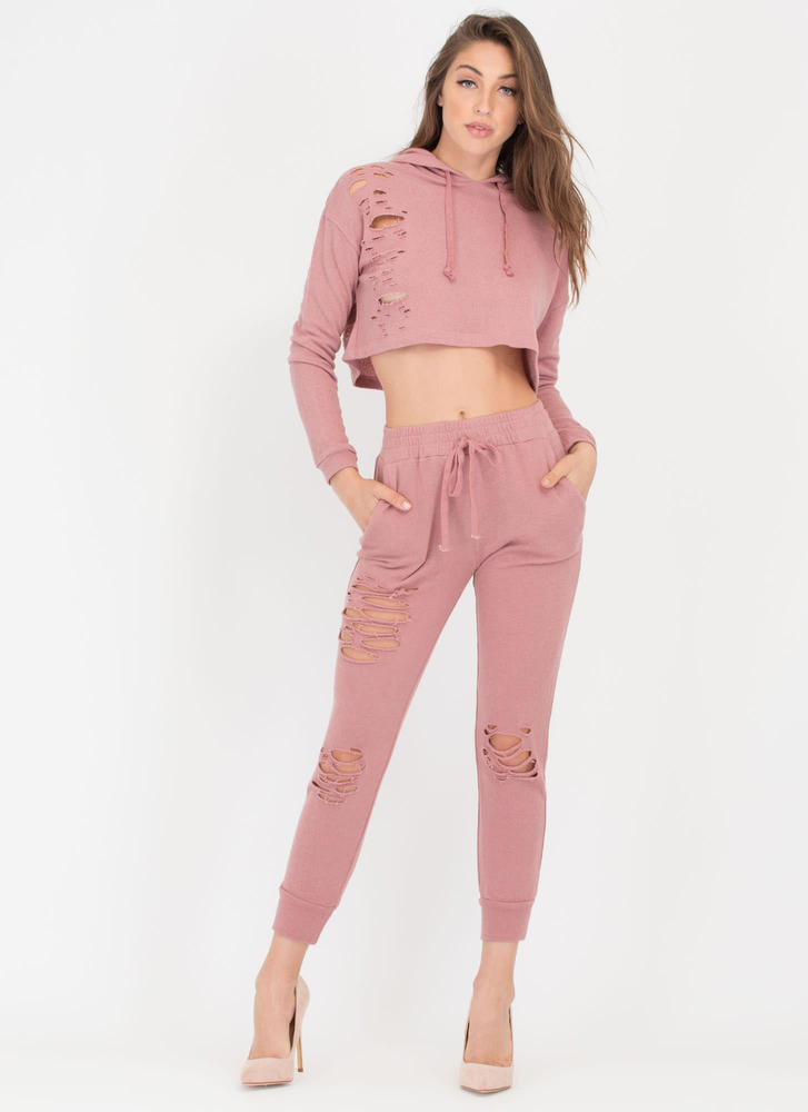 Shred-y Or Not Jogger Pants MAUVE