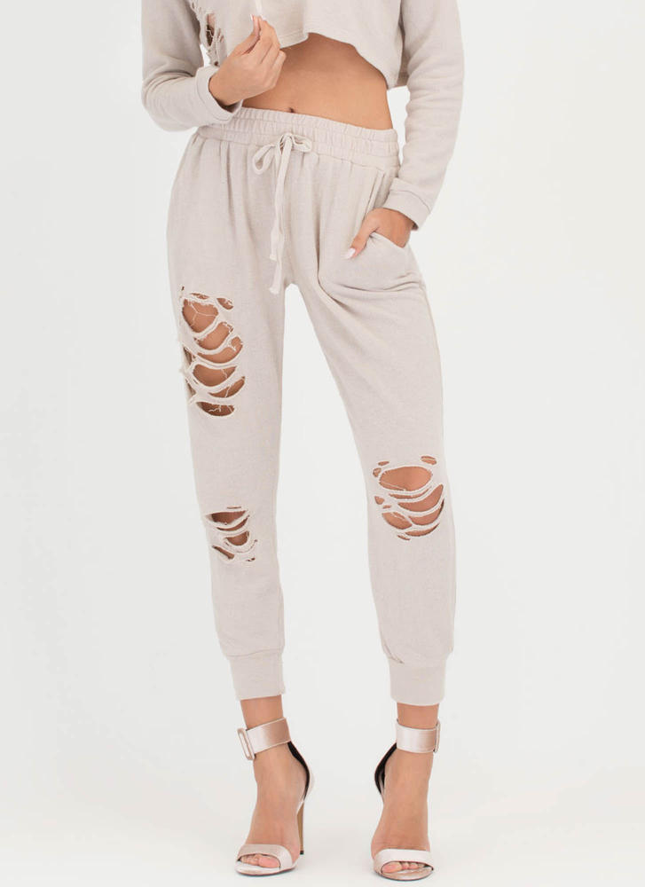 Shred-y Or Not Jogger Pants OATMEAL