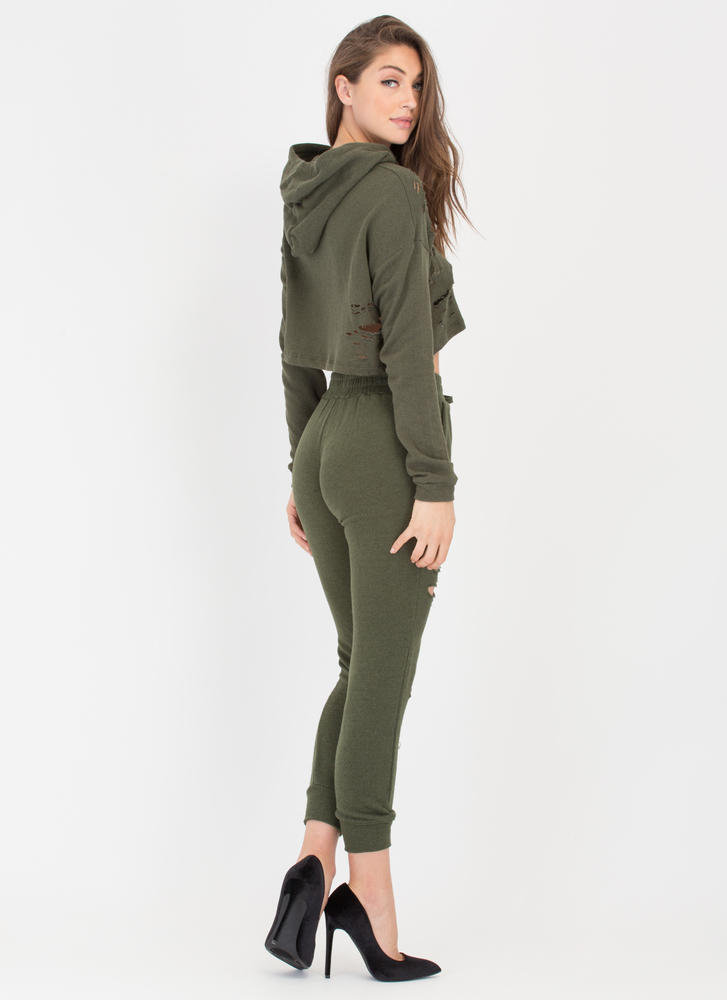 Shred-y Or Not Jogger Pants OLIVE
