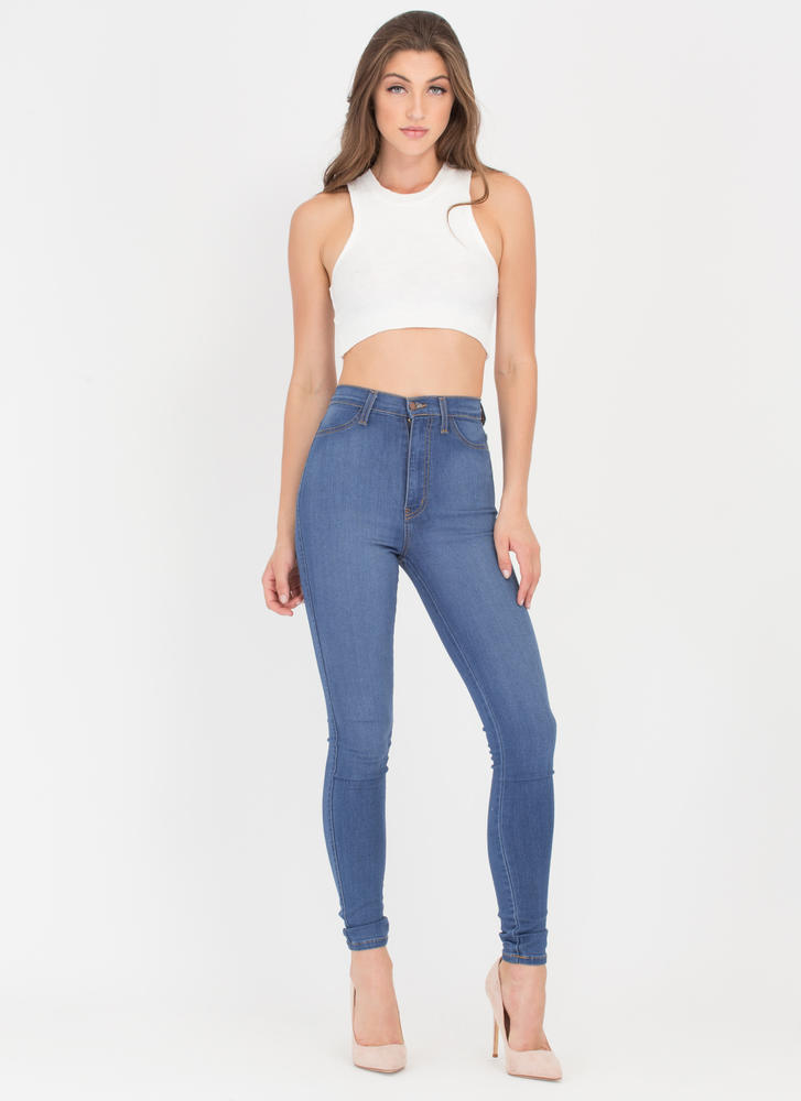 All The Small Things Knit Crop Top OFFWHITE