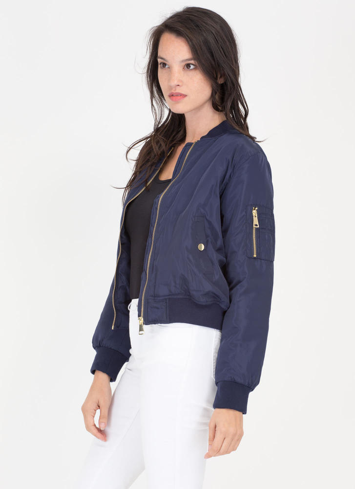 Padding Your Stats Bomber Jacket NAVY