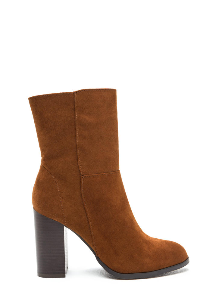 Tall Or Nothing Faux Suede Booties