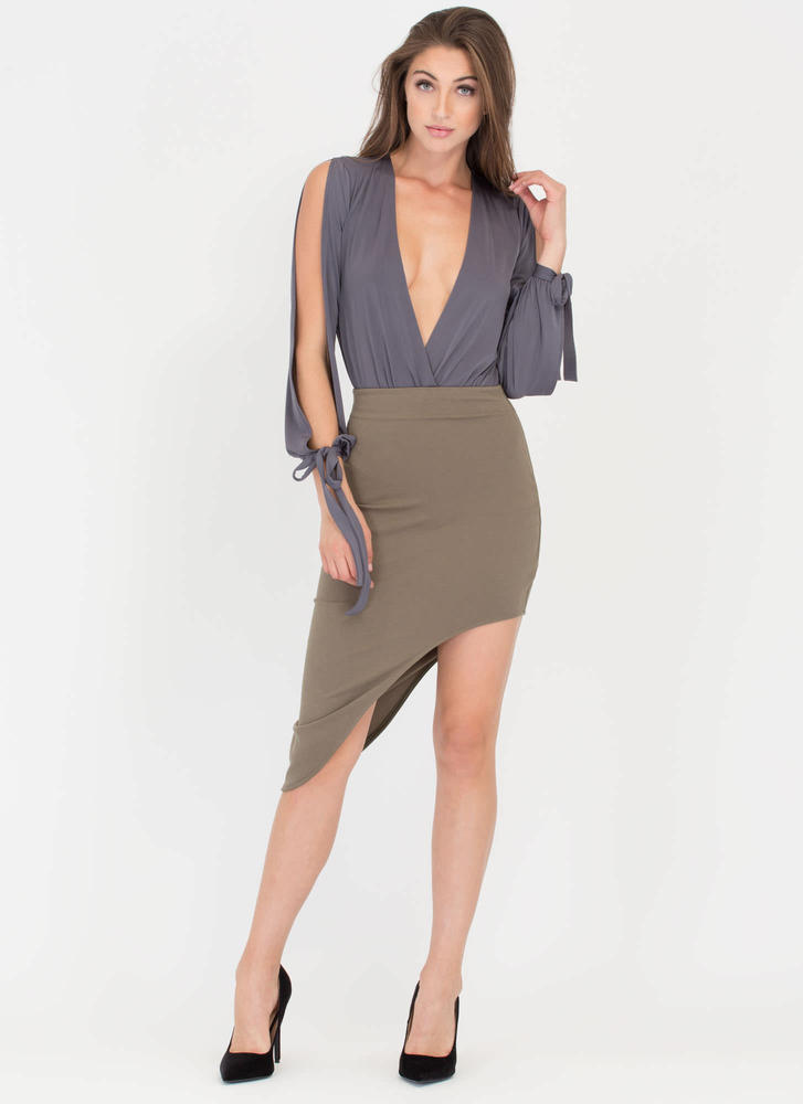 Curves And More Curves High-Low Skirt