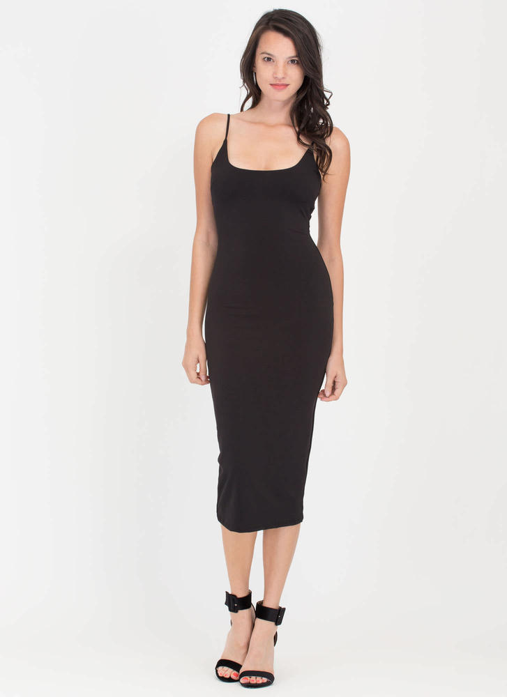 Tank You Very Much Scoop Midi Dress BLACK
