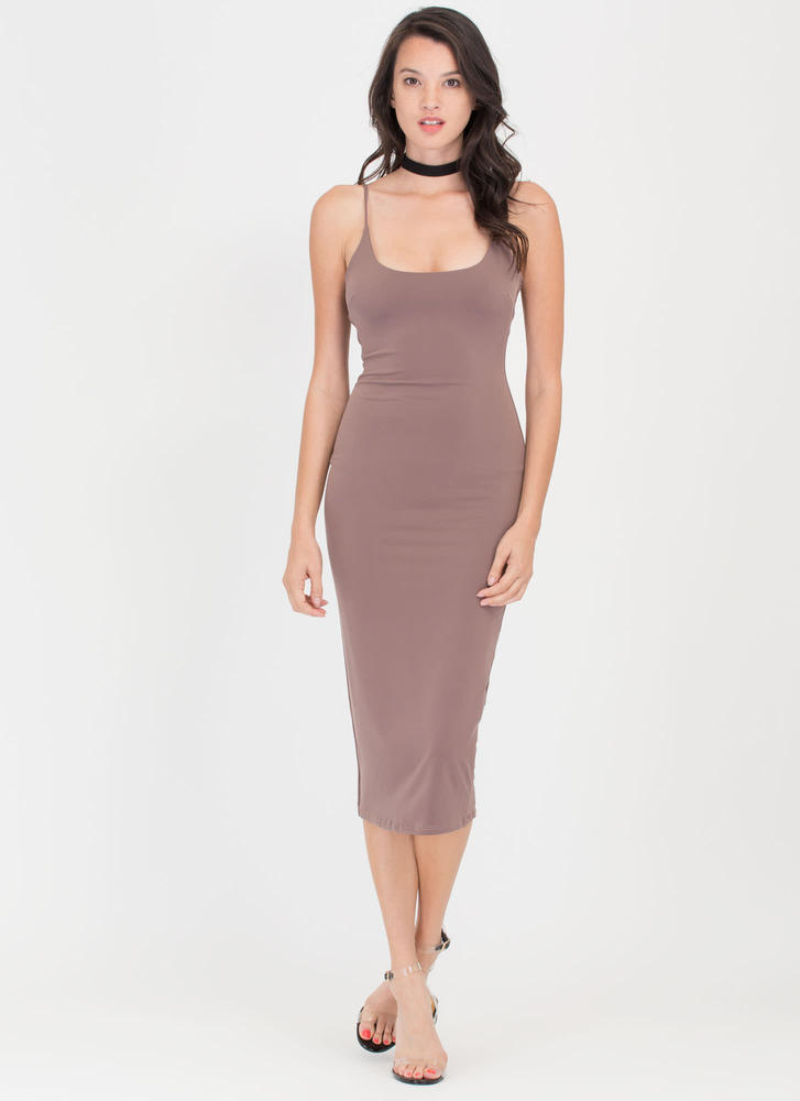 Tank You Very Much Scoop Midi Dress COCOA