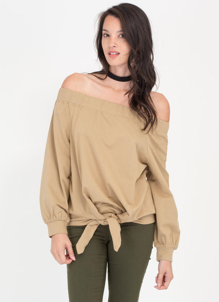 Tied The Knot Off-Shoulder Top