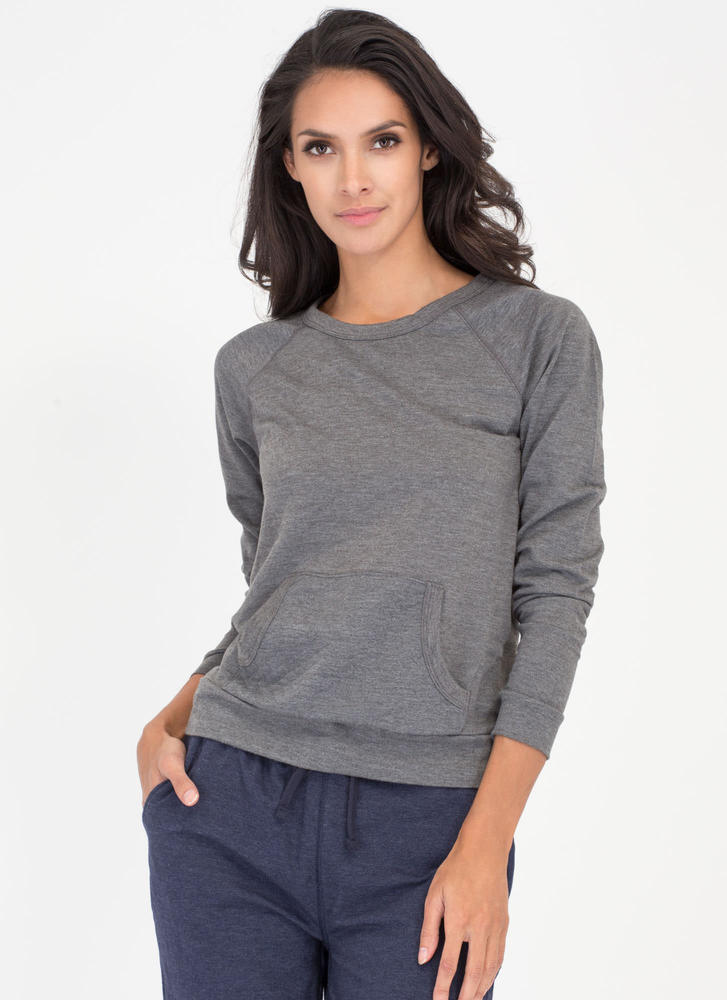 Quilty By Association Sweatshirt HGREY