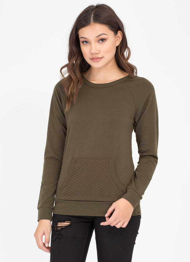 Quilty By Association Sweatshirt OLIVE