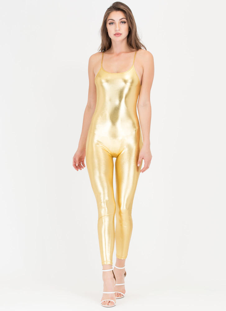 One Lucky Day Shiny Cami Full Bodysuit