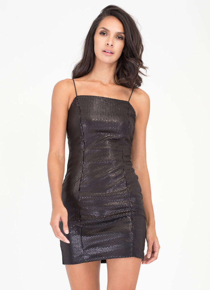 Party Over Here Matte Sequin Minidress