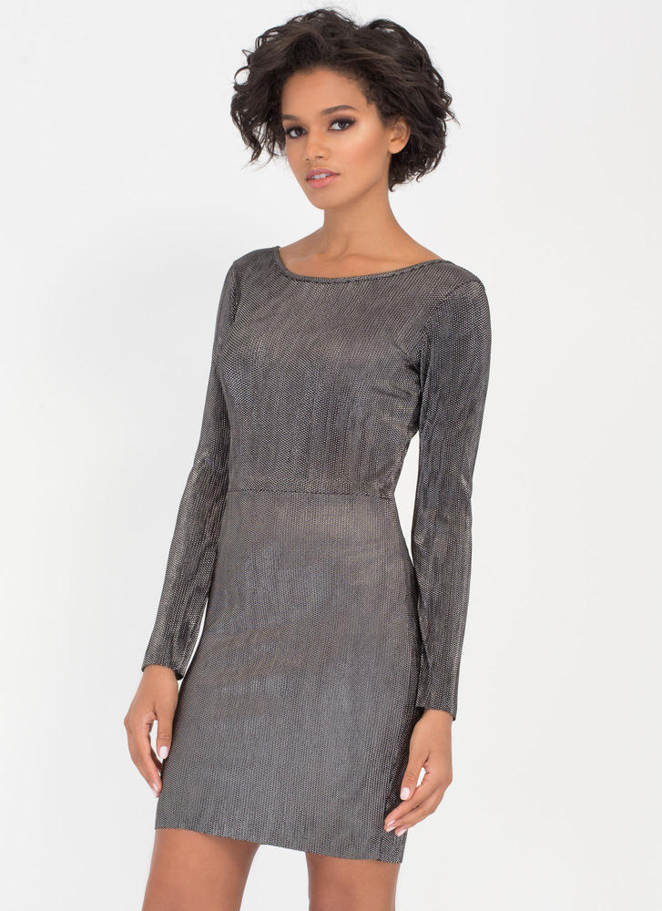 Glitter Magic Corded Metallic Dress BLACK (Final Sale)