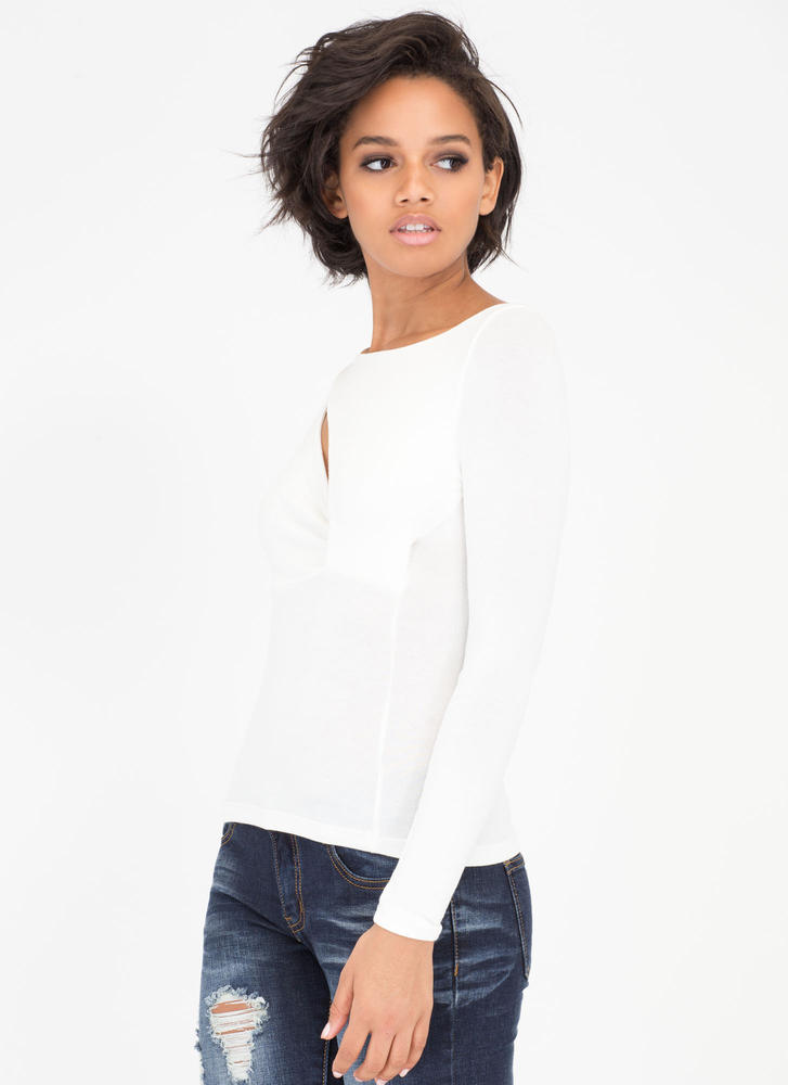 Little Extra Cut-Out Asymmetrical Top WHITE