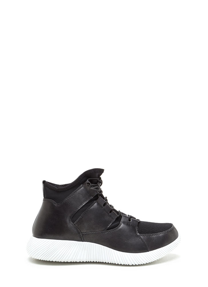 Werk It Mixed Media Sneakers BLACK