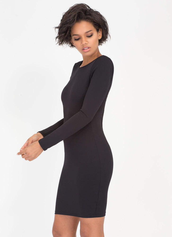 Your One And Only Back Strap Dress BLACK