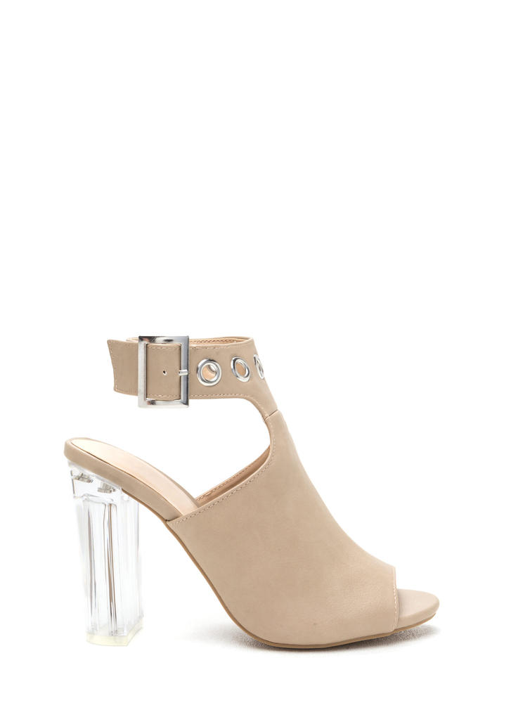 Hole New World Chunky Lucite Heels