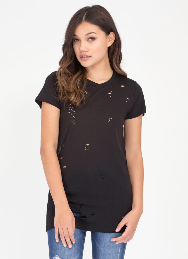 The Hole Wide World Open Back Top BLACK