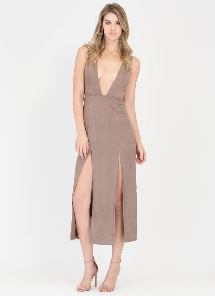 Over The Swoon Double Slit Maxi Dress