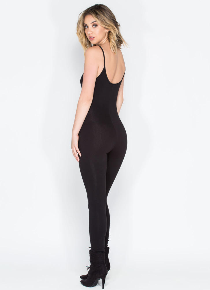One Woman Show Full Bodysuit BLACK