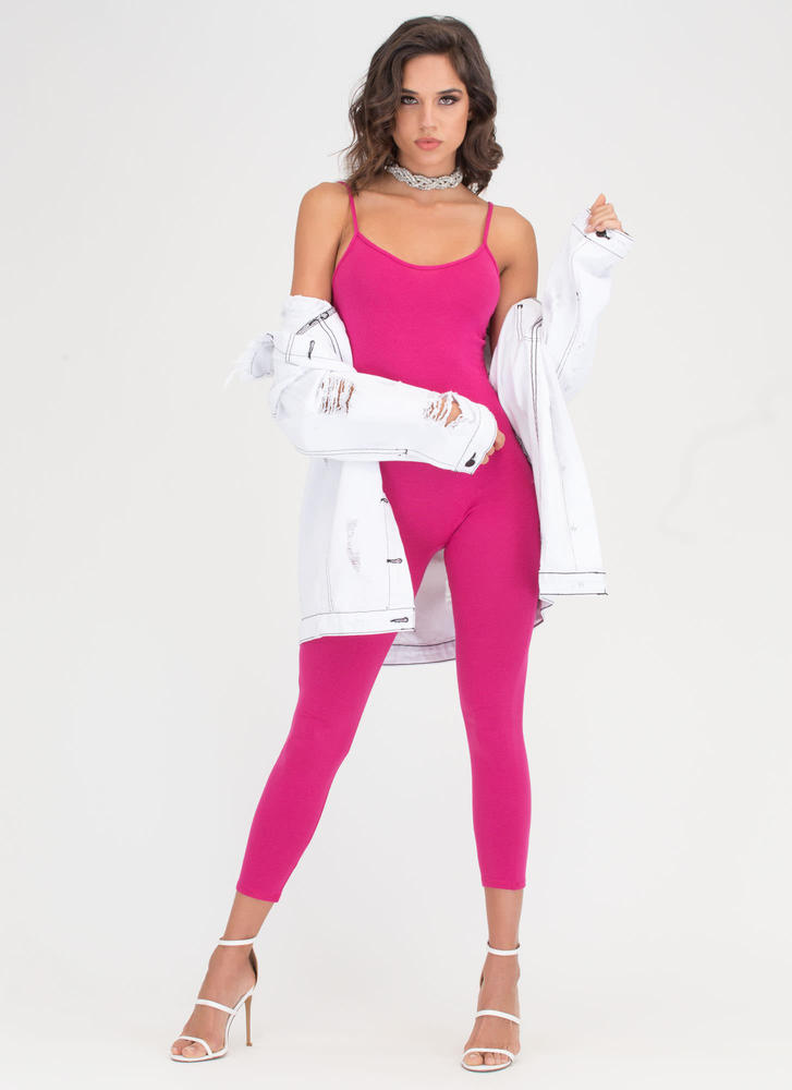 One Woman Show Full Bodysuit FUCHSIA