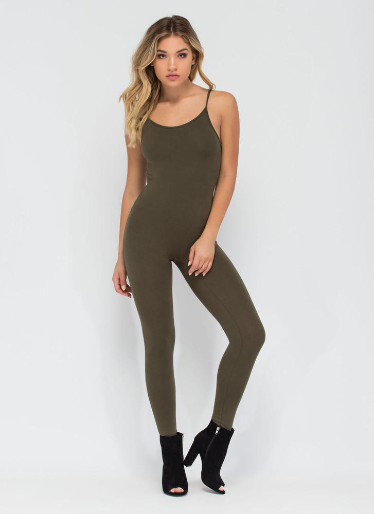 One Woman Show Full Bodysuit OLIVE