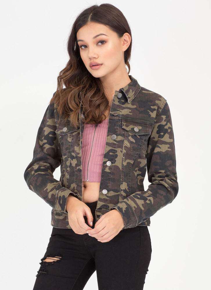 Camo Call Button-Up Jacket CAMOUFLAGE