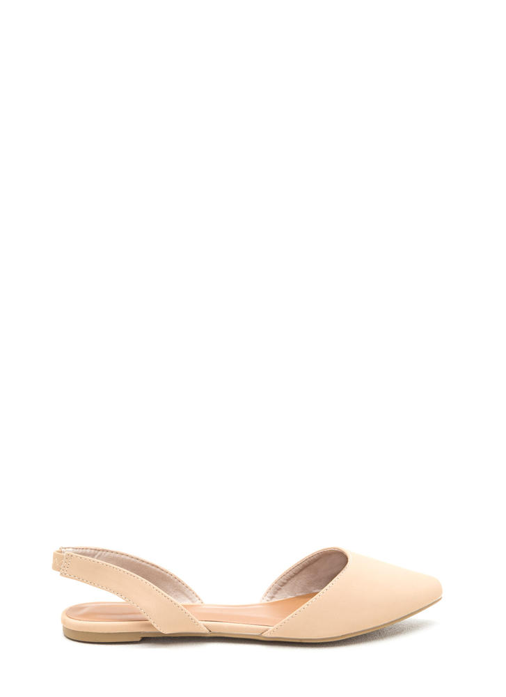 Crush On U Faux Nubuck Slingback Flats