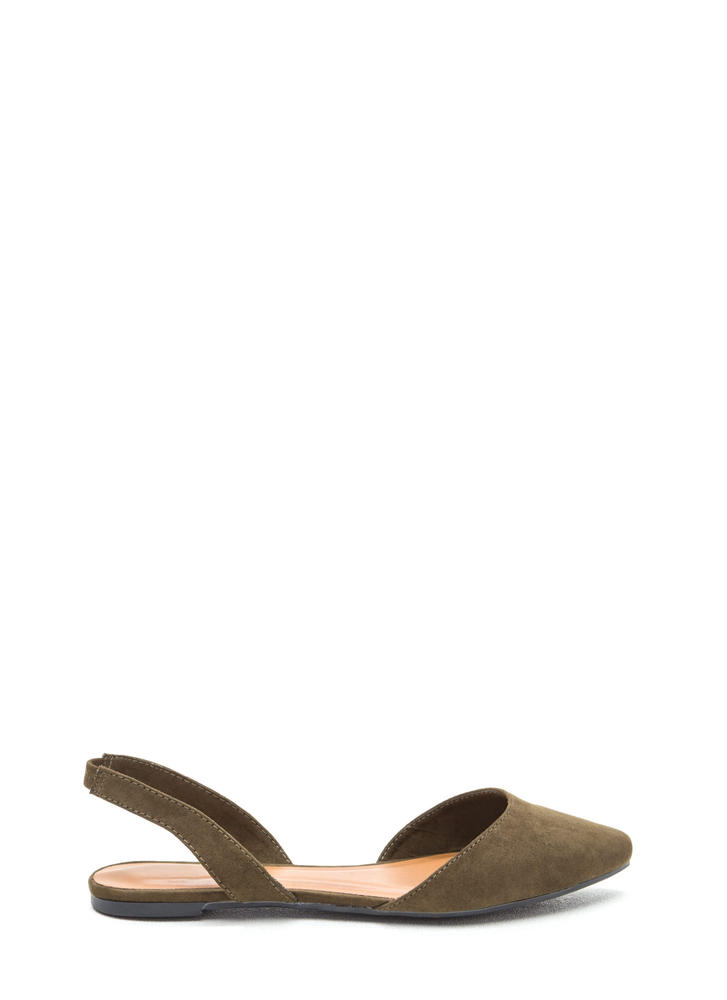 Crush On U Faux Suede Slingback Flats