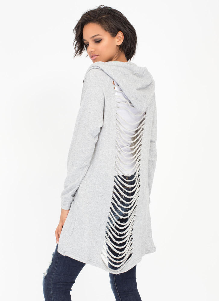 Let's Vent Distressed Hooded Sweatshirt