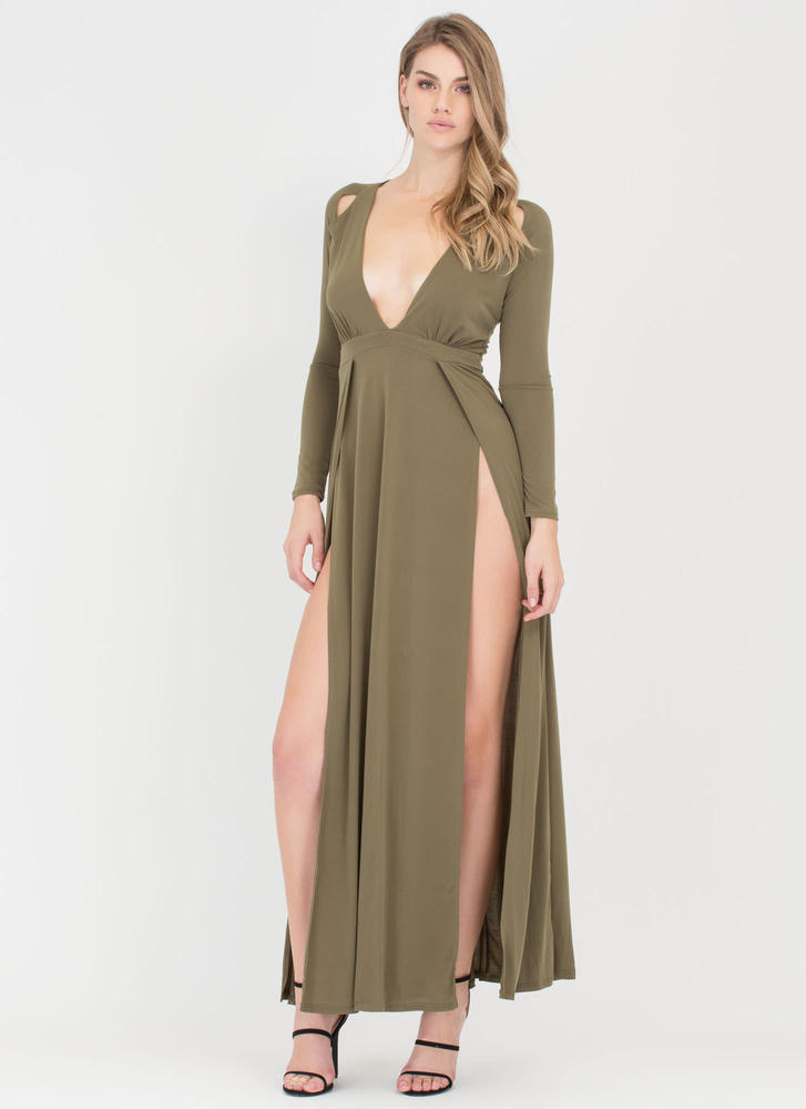 Dream Goddess Double Slit Maxi Dress