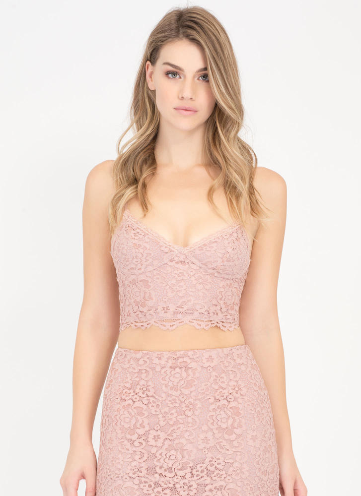 Fleur The Best Lace Bustier Crop Top