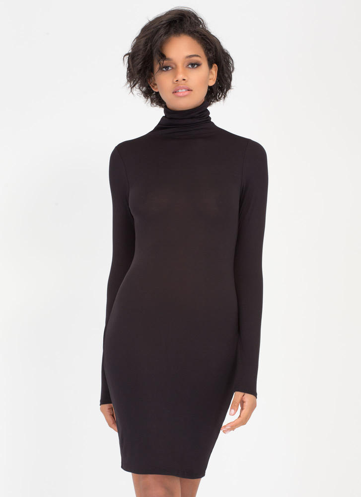 Up To Your Neck Turtleneck Dress