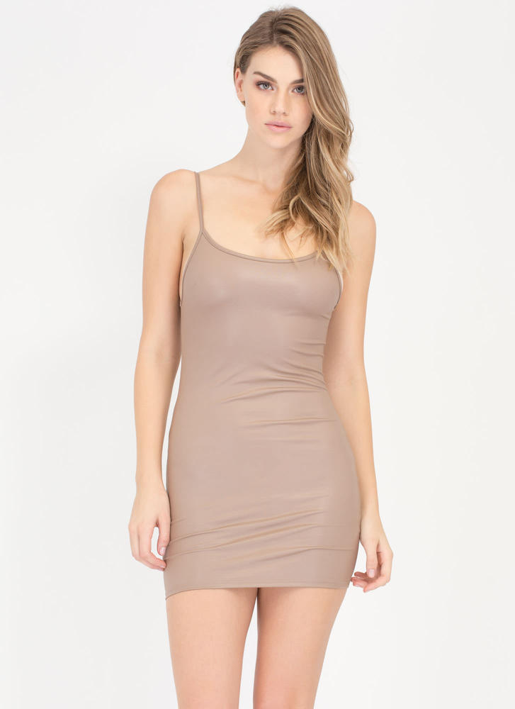 Sleek A Look Coated Cami Minidress
