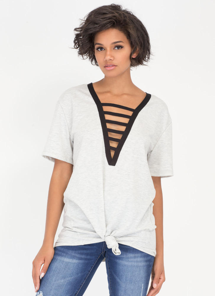 Ladder Climber Strappy Deep-V Top