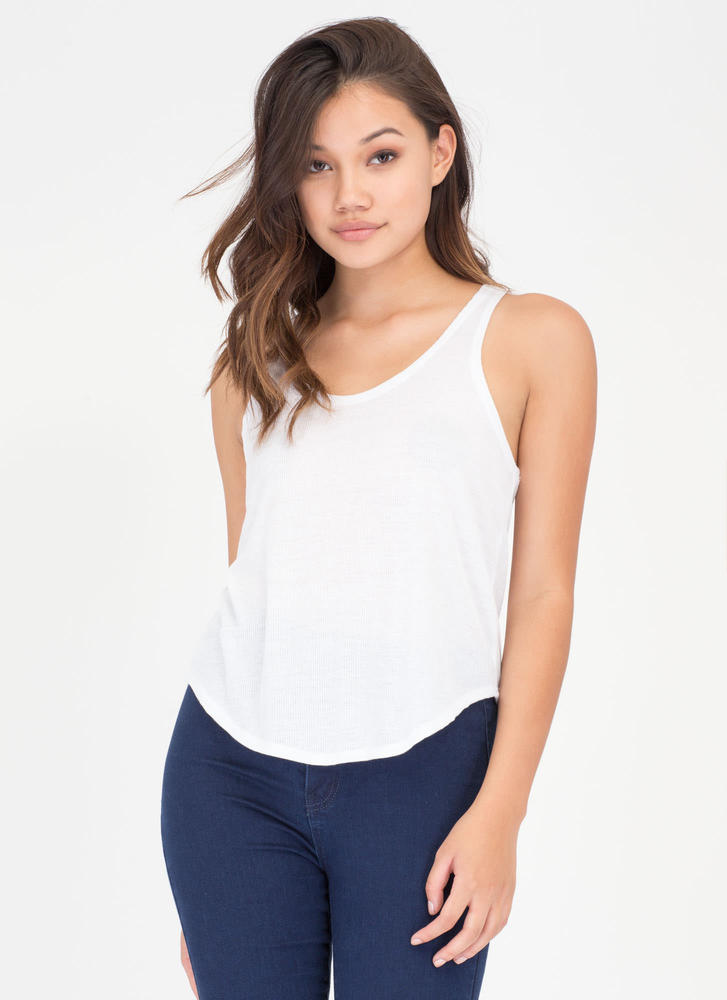 U Got It Rib Knit Tank Top WHITE