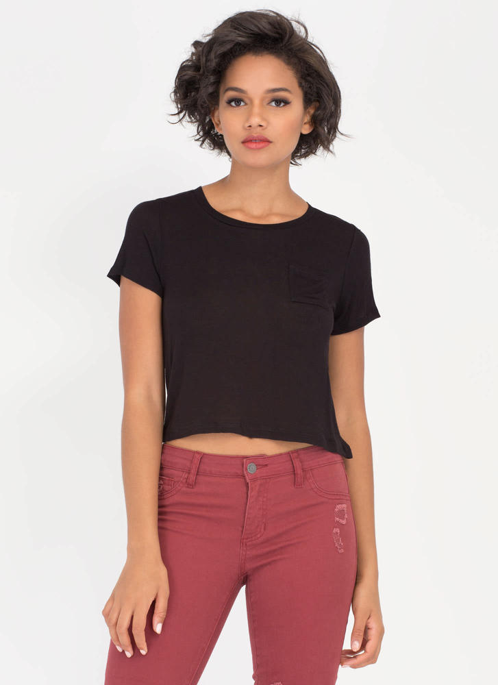 Pocket Protector Short-Sleeved Top