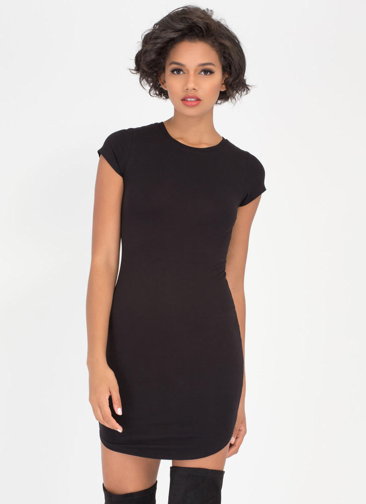 The Final Round Hem Midi Dress BLACK